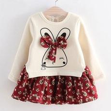 cute, Flowers, sleeve dress, Sleeve