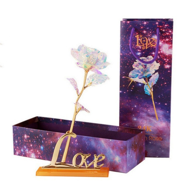 Box, goldfoilrose, Flowers, Jewelry