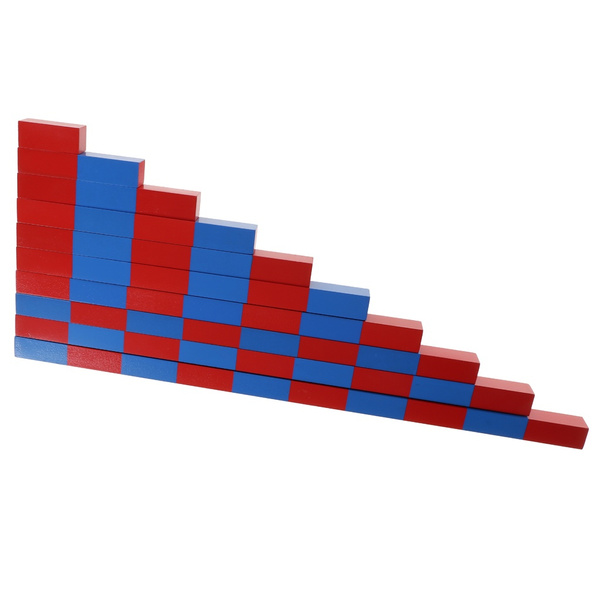 2x2x5cm2x2x50cm, montessorimaterial, montessorifamilyset, montessorirod