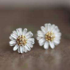 daisyearring, Sterling, Jewelry, Sterling Silver Earrings