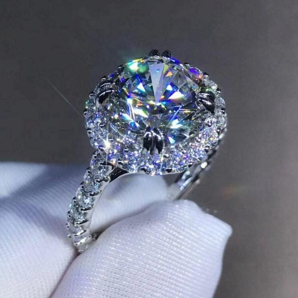 moissanite, Couple Rings, DIAMOND, Princess