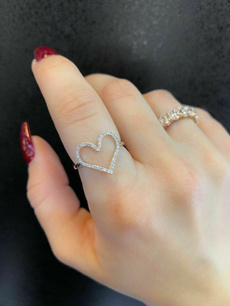 Heart, Fashion, sterling silver, Ring