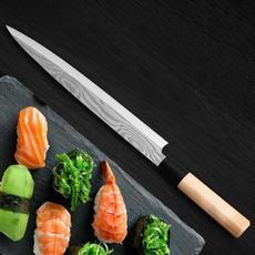 Kitchen & Dining, Sushi, sashimiknifedamascu, japaneseknife