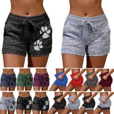 Summer, Shorts, Yoga, Waist