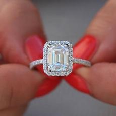 DIAMOND, Princess, Engagement Ring, Engagement