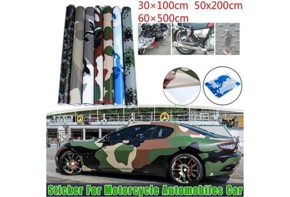 Color Name : Blue Camo, Size : 152X20 CM TSAUTOP Newest Snow Camo Vinyl Film Auto Wrap Camouflage Vinyl Wrapping Car Sticker Bike Console Computer Laptop Skin Scooter Motorcycle
