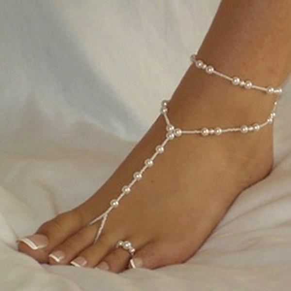 Beautiful, Sandals, barefoot, Jewelry