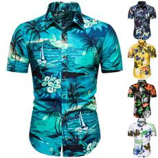 Summer, men's dress shirt, Shorts, Shirt