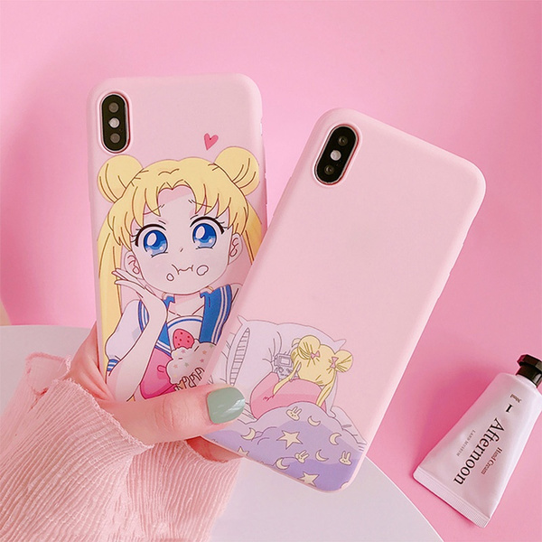 Anime Sailor Moon Pink Phone Case for Iphone 8 8plus IPhone X Iphone 6/6S Plus 7/7 Plus IPhone 11/11 Pro Case Cute Soft IPhone Case Sailor Moon | Wish