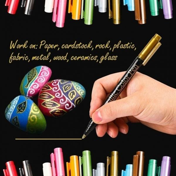 pencil, metallicmarkerpensset, Metallic, Pen