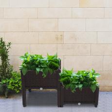 Box, Flowers, gardenyarddecoration, flowerpotplanter