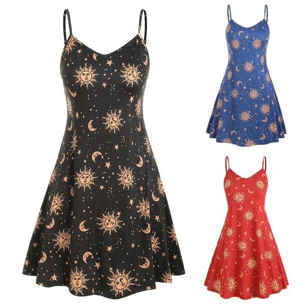 Summer, Plus Size, Spaghetti, Dress