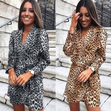women sexy dress, Fashion, ladies dress, Leopard