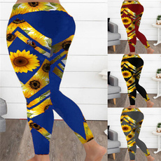 Outdoor, Yoga, Sunflowers, pants