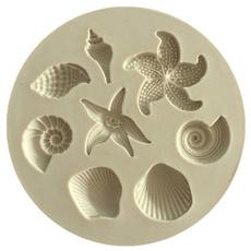 cakedecorationtool, starfish, Silicone, candymold