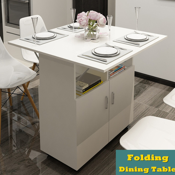 Folding Dining Table Kitchen Trolley, Folding Dining Room Table