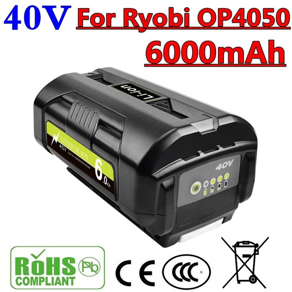 forryobiop4050, ry40403forryobi, 40volt6000mahlithiumionbattery, op4026a