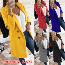 woolen coat, Plus Size, Invierno, Long Coat