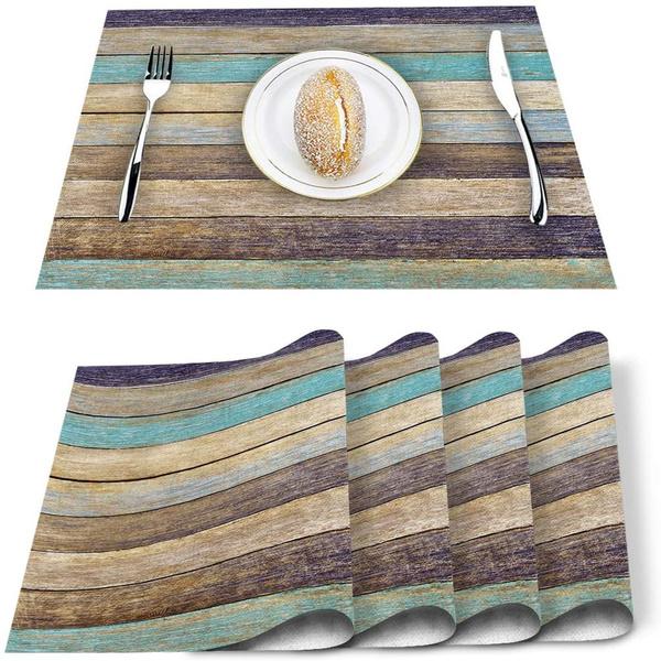 placematssetof4tablemat, brown, Kitchen & Dining, Teal