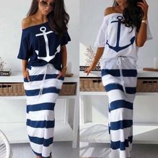 independent, long skirt, Plus Size, Print Dresses