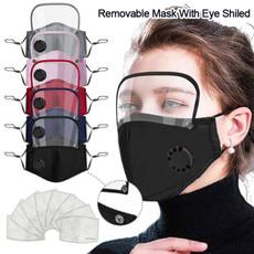 maskwitheyeshield, dustproofmask, shield, breathingmask