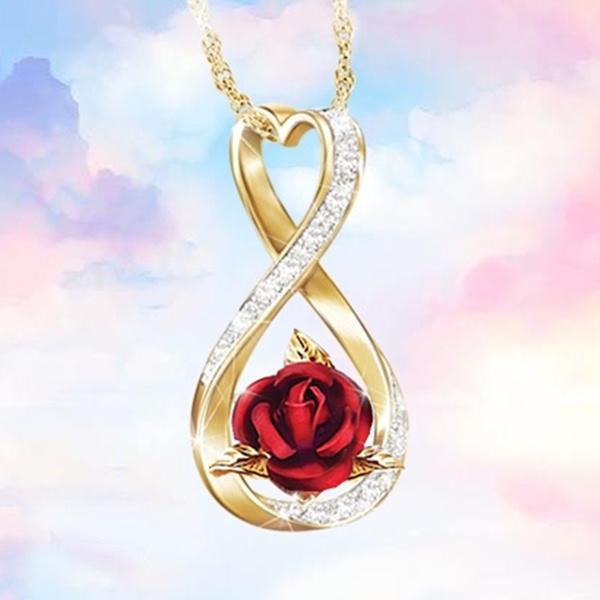 925 sterling silver necklace, Heart, DIAMOND, Love