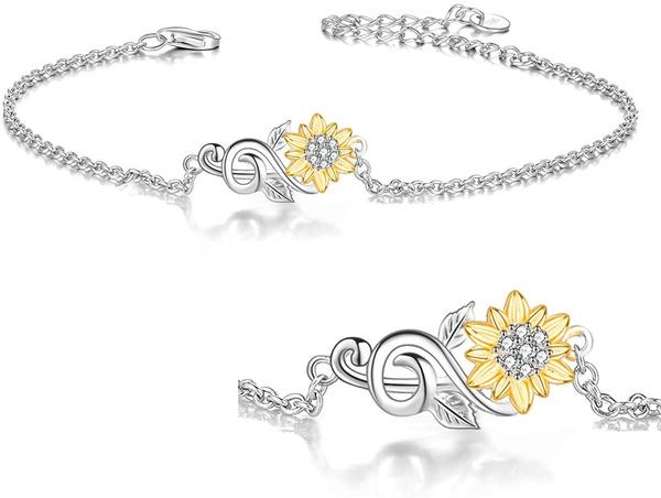 White Gold, Flowers, rosebracelet, Sunflowers