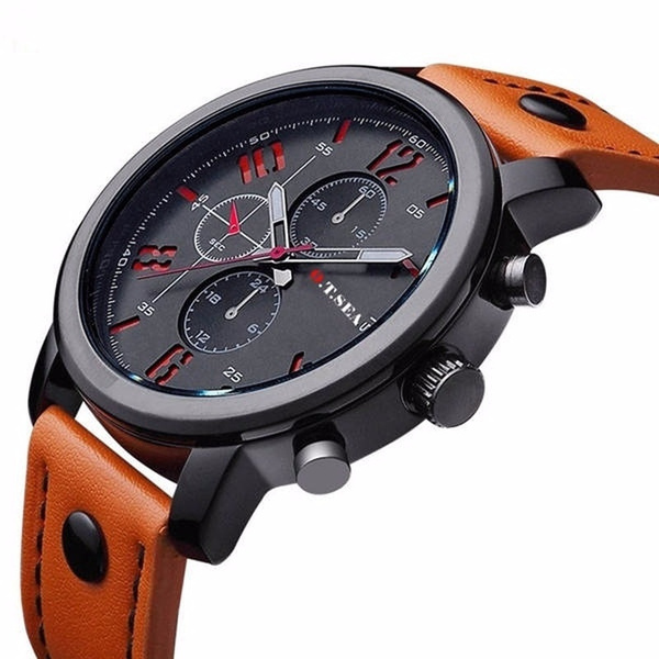 Chronograph, brown, Fashion, Casual Watches