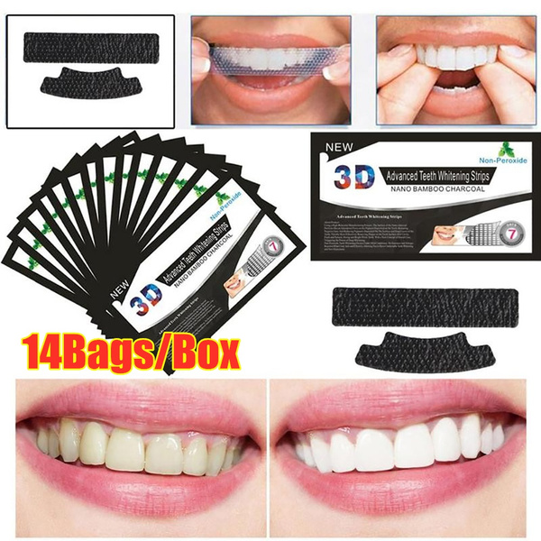 Charcoal, oralcare, teethwhitening, whitestrip