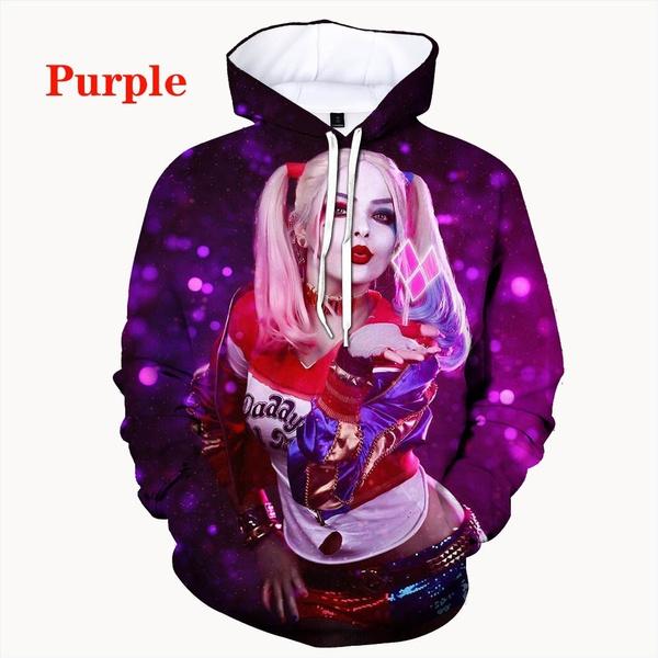 Fashion, pullover hoodie, Long Sleeve, harleyquinn