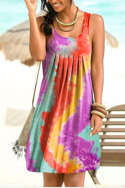 Sleeveless dress, Plus Size, Necks, Summer