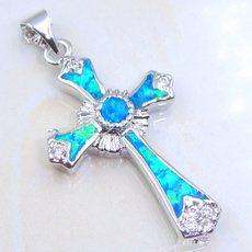 Blues, Silver Jewelry, 925 sterling silver, Cross necklace