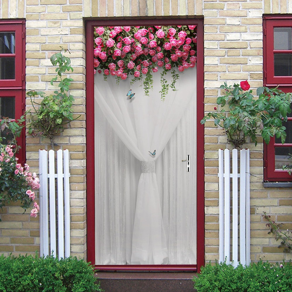 Door, Home & Living, Rose, Stickers