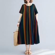 Summer, dressesforwomen, Vintage, Sleeve