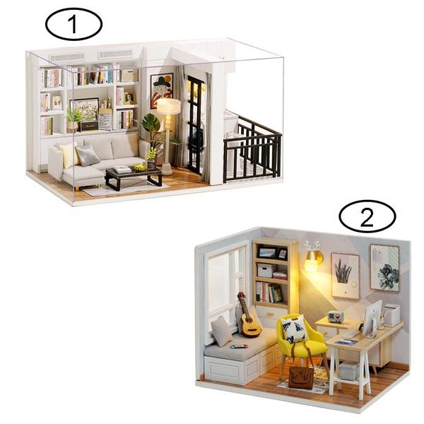 cottagehousemodel, dollshouselightingset, Home & Living, cabinhouse3dpuzzletoydiy