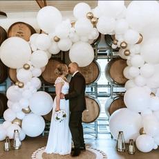 whiteballoonwall, decoration, balloongarland, Garland