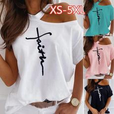 Summer, Plus Size, Cotton Shirt, Shirt