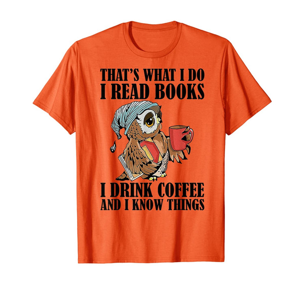 Owl, Coffee, manclothing, familyshirt