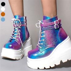 hightopsneaker, platformboot, Colorful, Womens Shoes