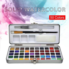 Box, watercolorpalette, art, Gifts