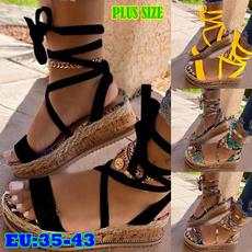 Summer, Sandals, Women Sandals, Lace