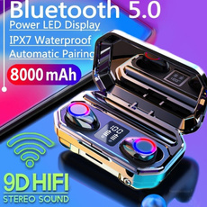 led, Bass, Waterproof, twsheadphone