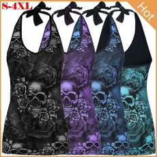 Summer, Fashion, Tank, skull