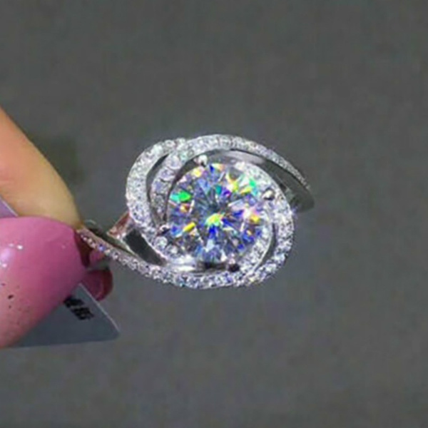 Wedding Engagement Valentine Promise Gifts Women Silver Ring With Purple Stone Japanese Women Ring Solid 925 Sterling Silver