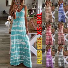 Summer, Fashion, long dress, plus size dress