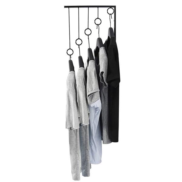 Clothes, wallmounted, portable, garmentrack