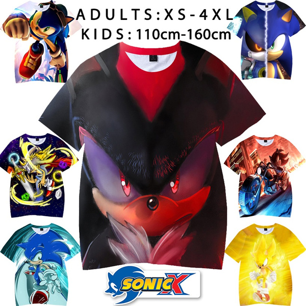 sonic, Shorts, Sleeve, Mens T Shirt
