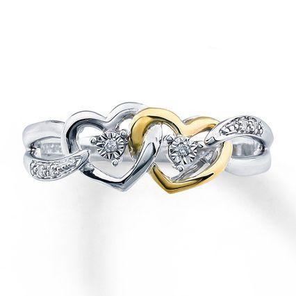 Sterling, Heart, DIAMOND, Bridal