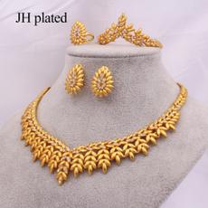 Bridal, womenampgirlsampampampampladiesjewelryset, Bracelet, gold necklace