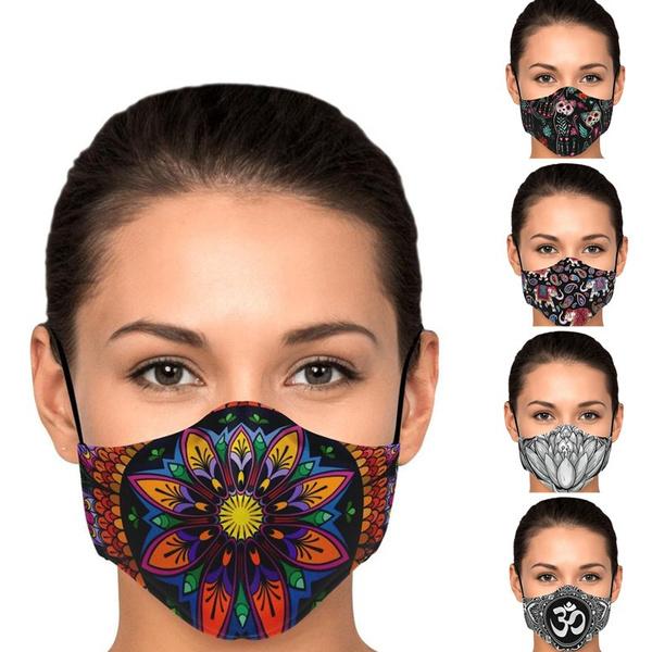 Cotton, Protective, mouthmask, bohomask